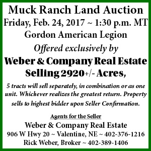 Muck Ranch Land Auction, Friday, Feb. 24