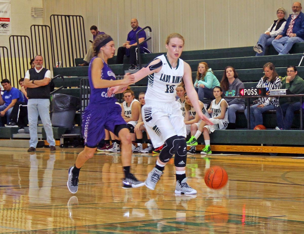 Emma Roberts had a great season for the Lady Hawks, leading the team in points, rebounds and assists.