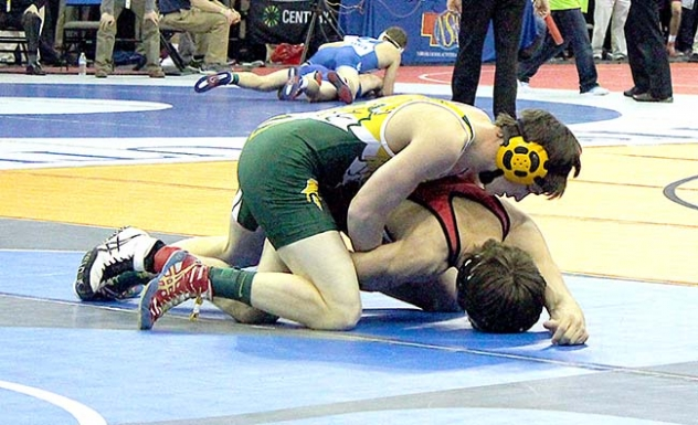 Hay Springs' only qualifier, Jake Johnson's first match was against Matthew Sweet of Franklin. Johnson was pinned in 3:19. He went on to win his next match, but was eliminated from the tournament in his third match.