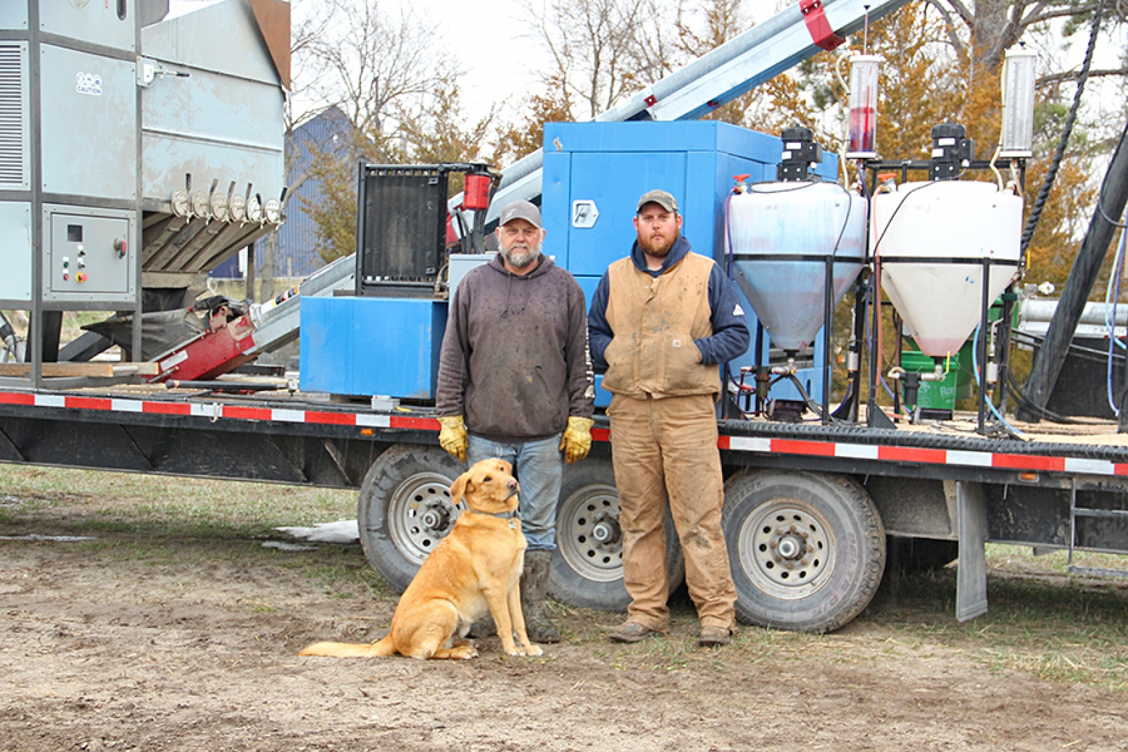 Rasmussens offer mobile grain cleaning, treating services