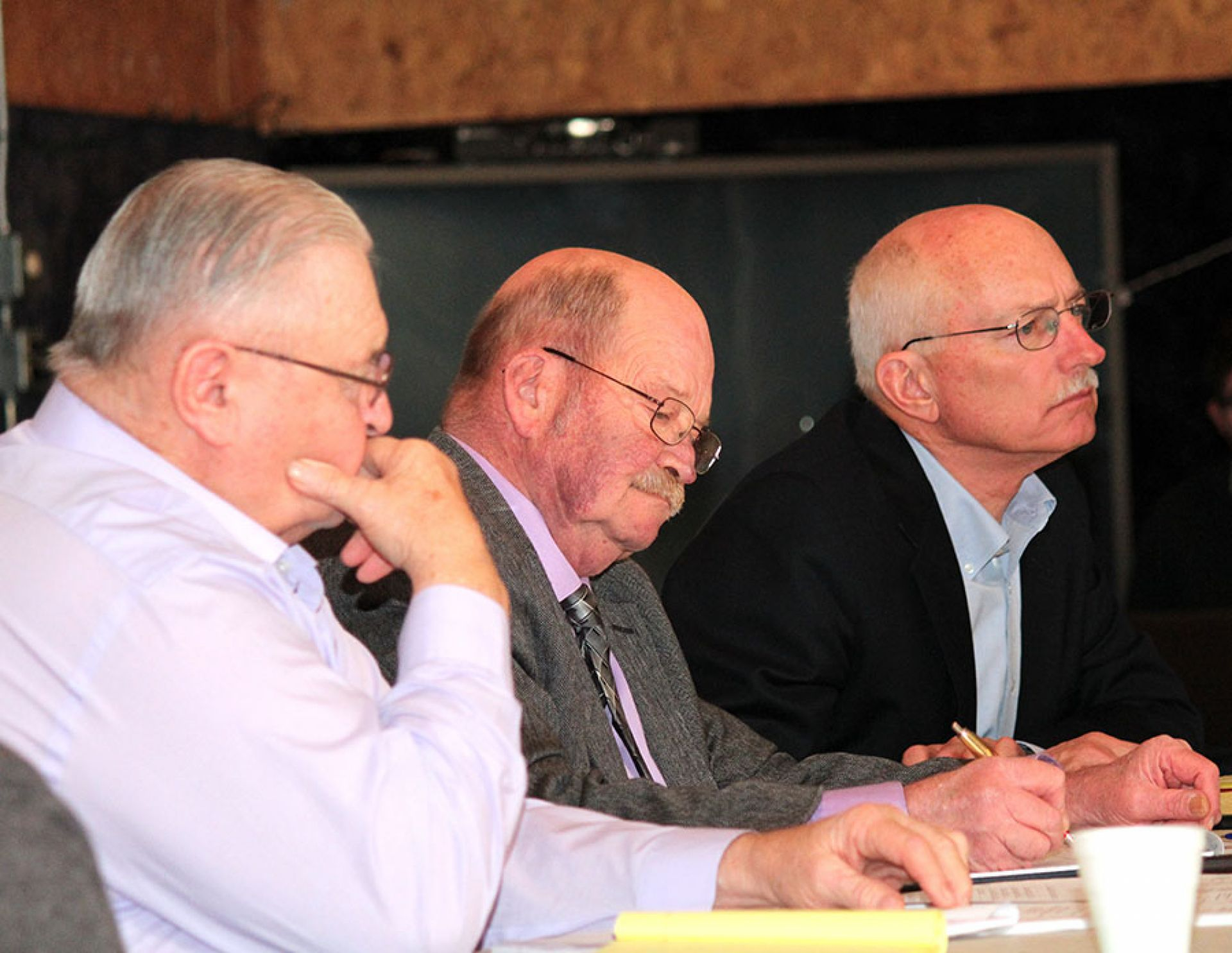 The Sheridan County Commissioners hear public testimony regarding the renewal of the Whiteclay liquor licenses Thursday, Jan. 5 at the Rushville American Legion.