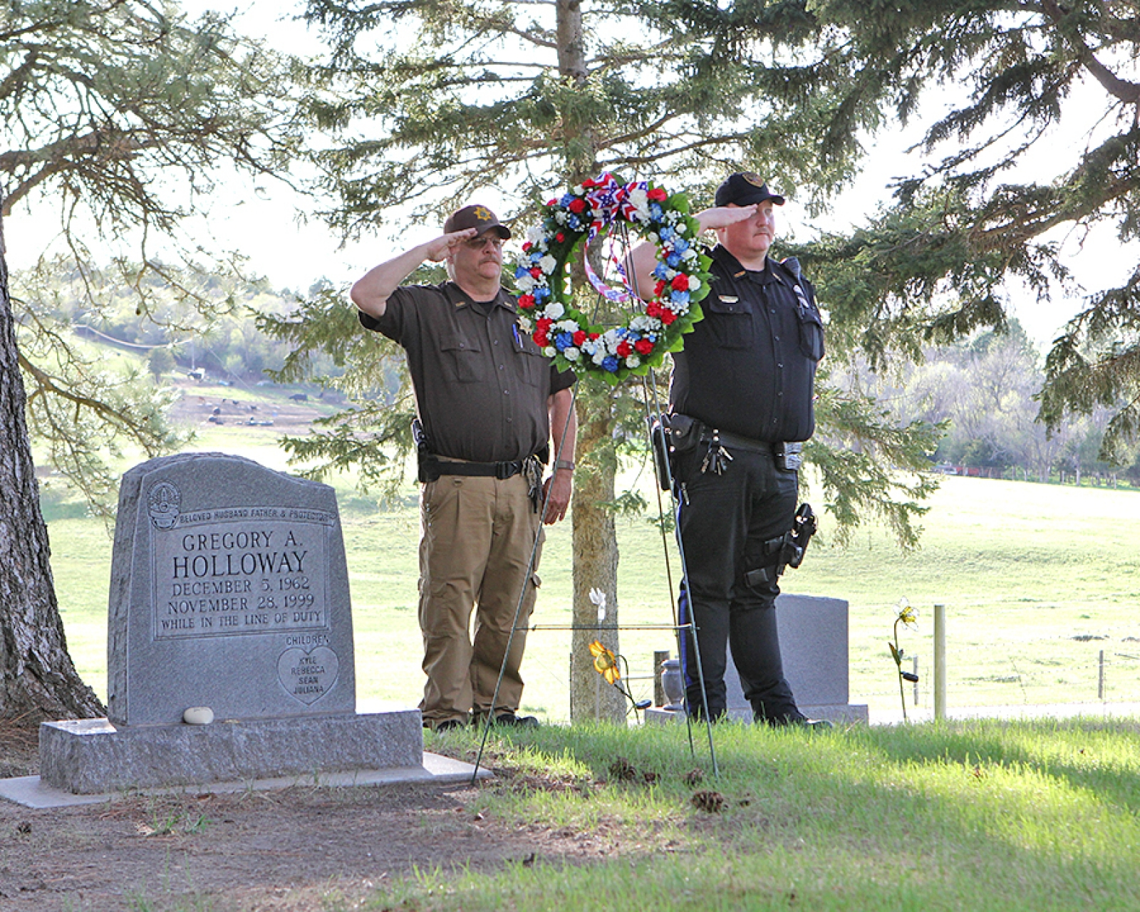 Local law enforcement hold National Peace Officer's Memorial Day ceremony