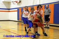 Gordon-Rushville Middle School vs. Chadron basketball 2016