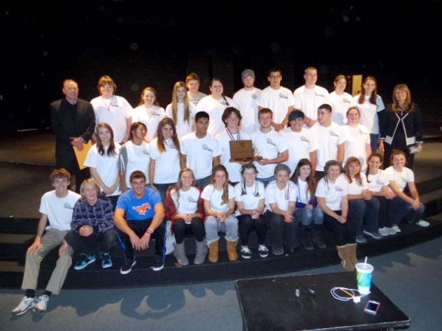 "The G-R One Act team won the Western Trail Conference with their play ""He Lives On."""