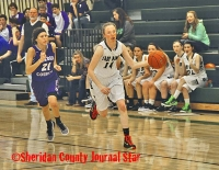 Hay Springs girls basketball vs. Garden County 2017