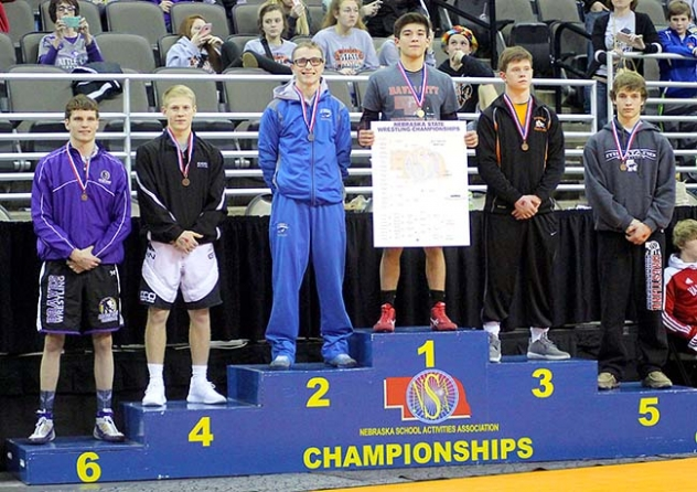 Gordon-Rushville's Logan Belskey finished his junior wrestling season with a fifth place finish at the Nebraska State Wrestling Tournament in Omaha last weekend.