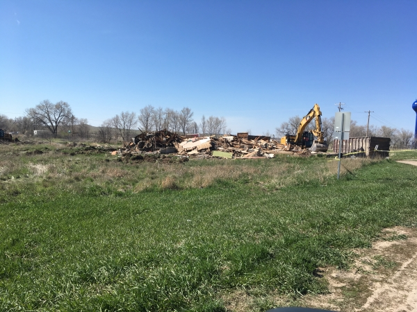 Two buildings demolished in Whiteclay