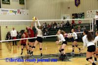 Hay Springs volleyball vs. Hemingford 2016