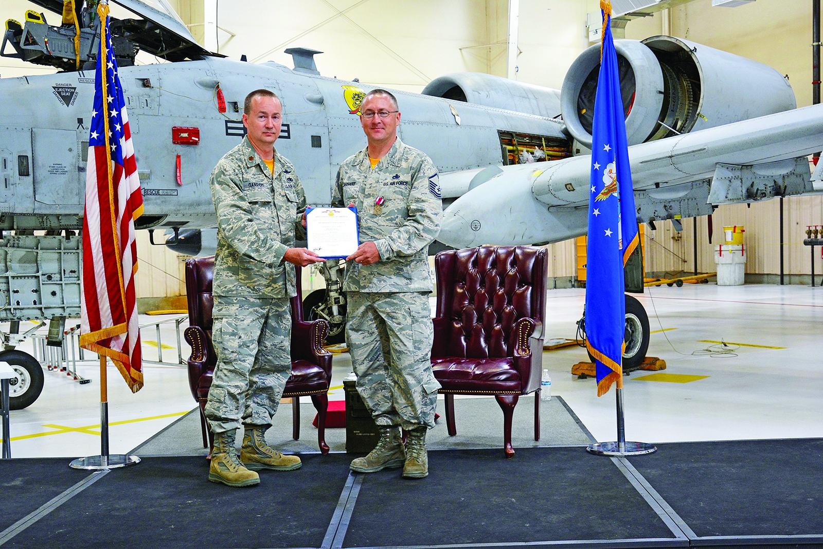 Ganshert retires from Air Force after 24 years