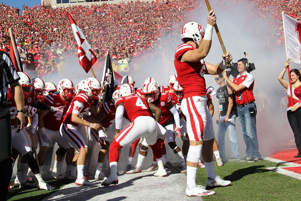 The Huskers prepare to take the field before taking on Perdue last Saturday in Lincoln.
