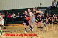 Hay Springs Lady Hawks basketball vs. Bennett County Warriors
