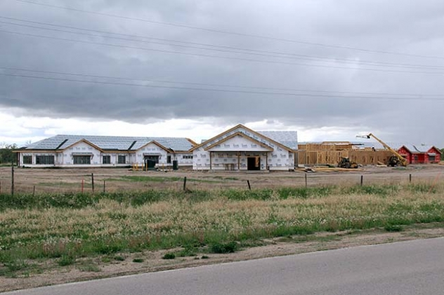 Construction is again underway on the nursing home in Whiteclay.