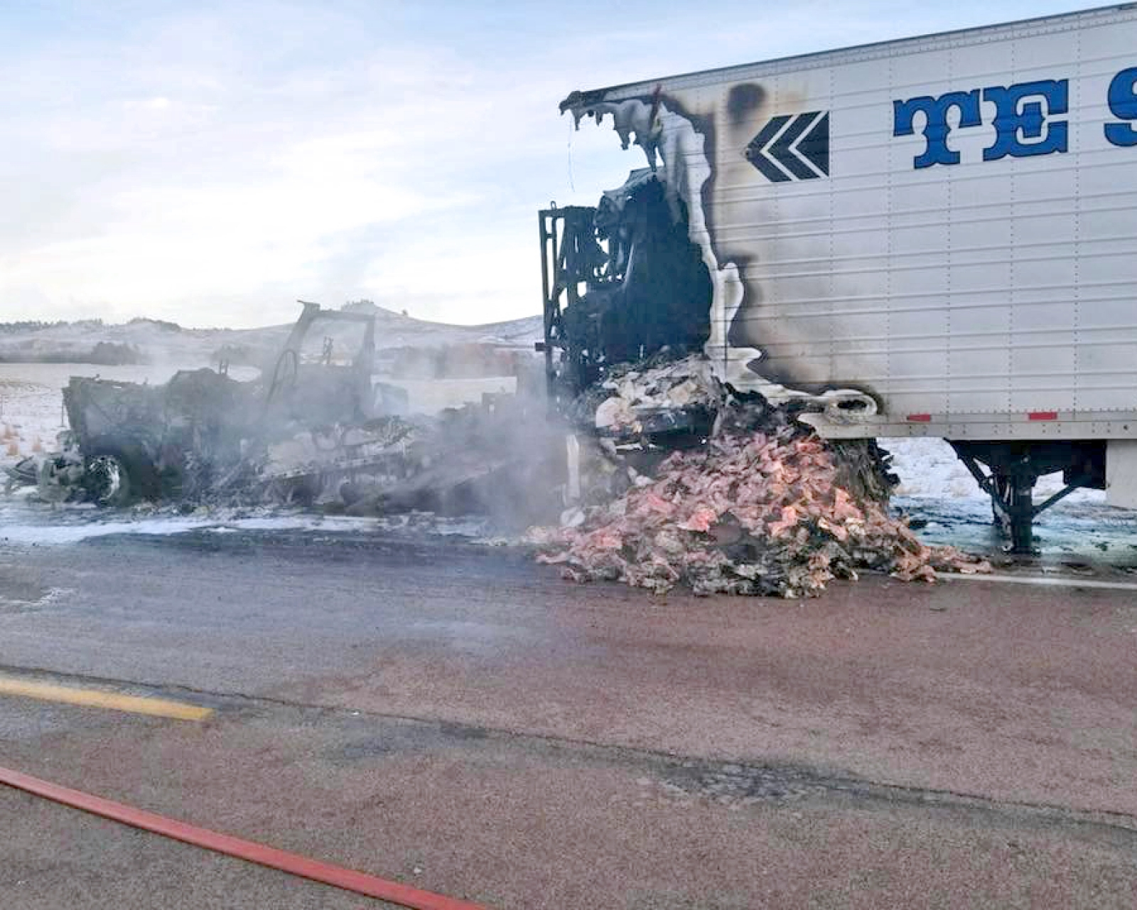 Hay Springs FD assists with semi fire Saturday