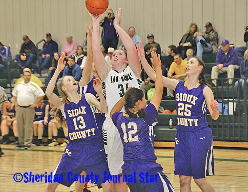 Hay Springs girls basketball vs. Sioux County 2017