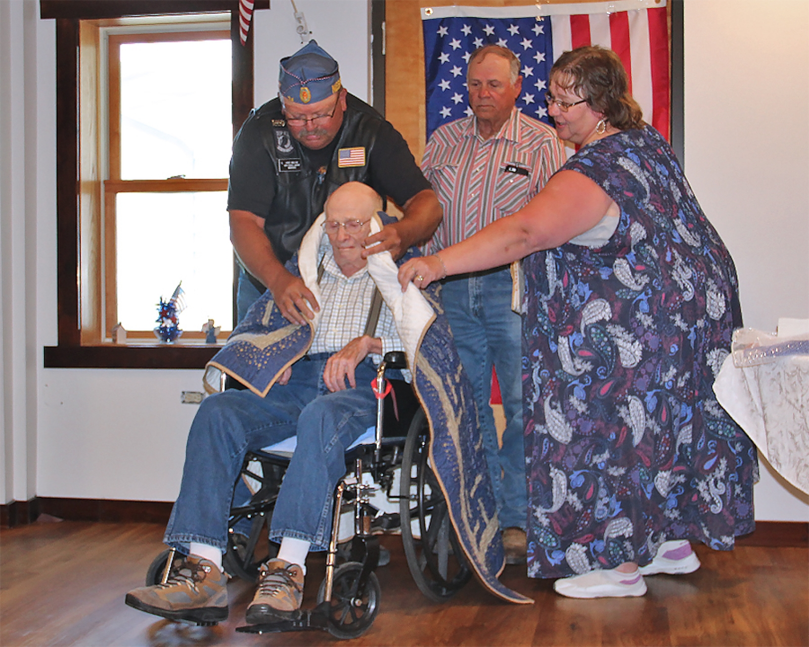 Green receives Quilt of Valor on 74th anniversary of D-Day invasion