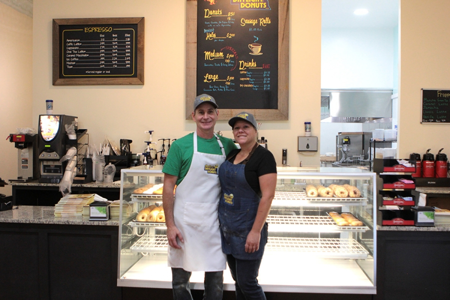 Jeff and Kerry Butler celebrated the Grand Opening of their donut shop, Butler's Daylight Donuts, on August 14.
