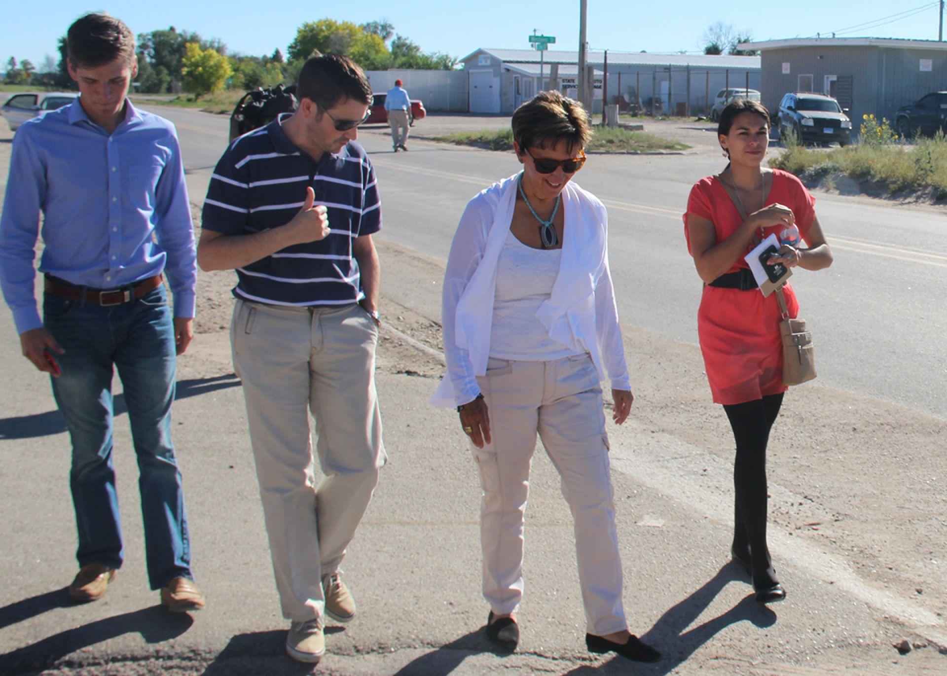 Sen. Patty Pansing Brooks toured Whiteclay on September 28 to develop solutions against alcoholism.