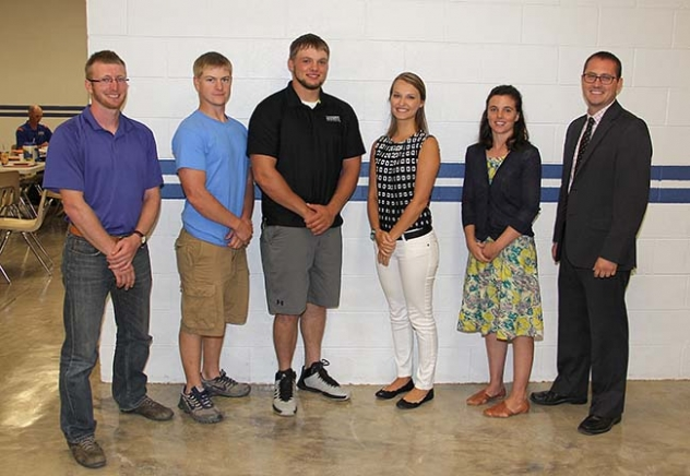 Gordon-Rushville Public Schools has five new teachers starting this year and a new high school principal. From left: Harry Johann Ritz, Brian Nadherny, Boone Bowker, Ashley Lindholm, Kinley Hadden, and Principal Nathan Livingston