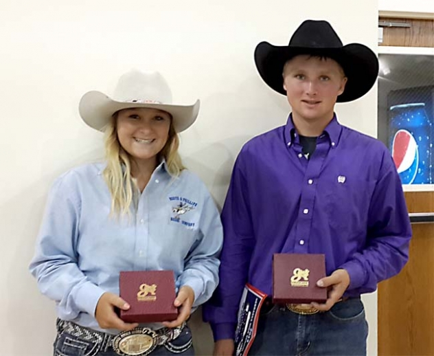 Charmayne Strong and Cody Darnell qualified for the High School National Finals Rodeo in Rock Springs, Wyoming.