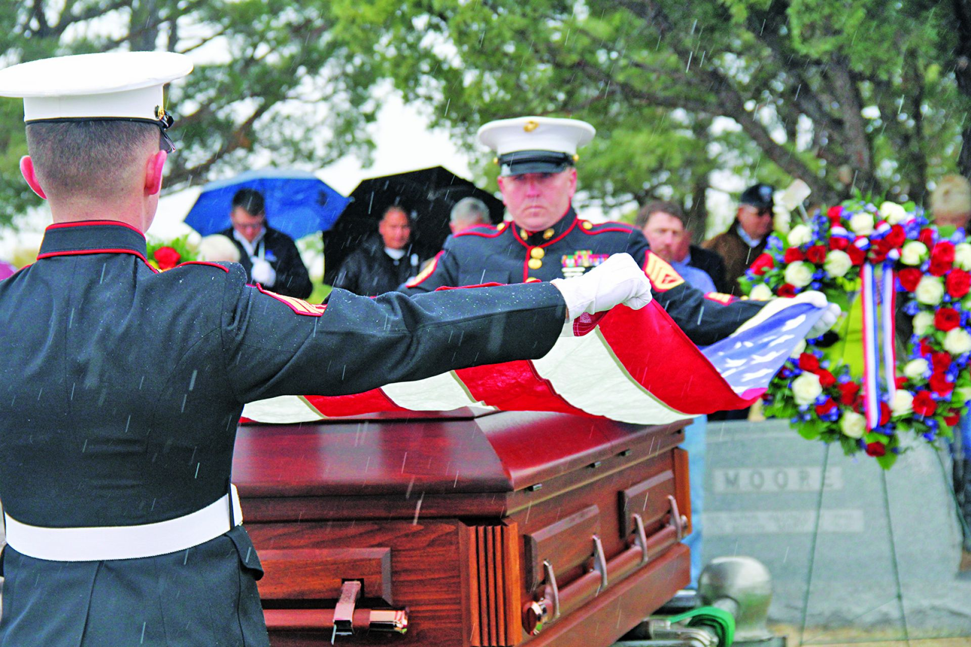Sgt. Fae Verlin Moore is laid to rest at Beaver Valley Cemetery