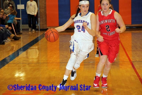 Lady Mustangs vs. Ainsworth 12-5-15