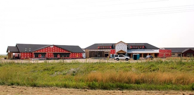 Construction continues on the new nursing home near Whiteclay, Nebraska.