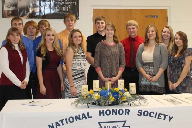 Thirteen students were inducted into the GRHS National Honor Society last Tuesday. They are: Rebecca Wellnitz, Colton Wolken, Kaden Russell, Shane Child, Robin Ferguson, Rhett Conroy, Jessica Bragg, Brice Stangle, Ashton Sasse, Cody Darnell, Jennaya Hill, Constance Livingston, and Jessica Roberts.