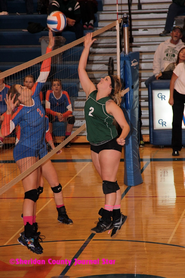 Gordon-Rushville vs Hay Springs volleyball 2013