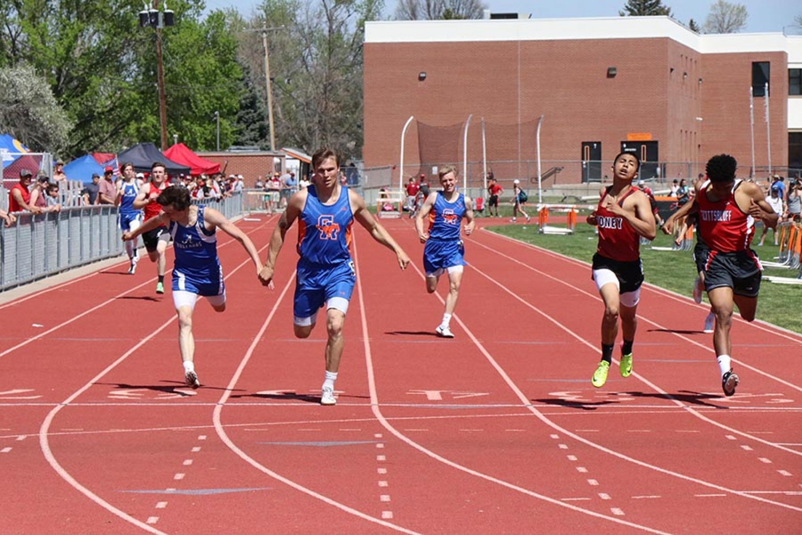 Mustangs compete at District Track & Field: Campbell sets new school record