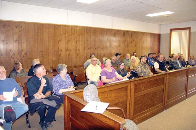 About 25 people showed up at the Sheridan County Commissioners meeting Monday for the discussion about Whiteclay.
