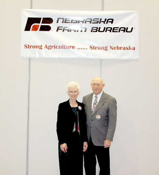 Members of Sheridan County Farm Bureau attended the Nebraska Farm Bureau Federation Convention in Kearney Dec. 9 and 10. Pictured are Marian and Ralph Beutler of Hay Springs.