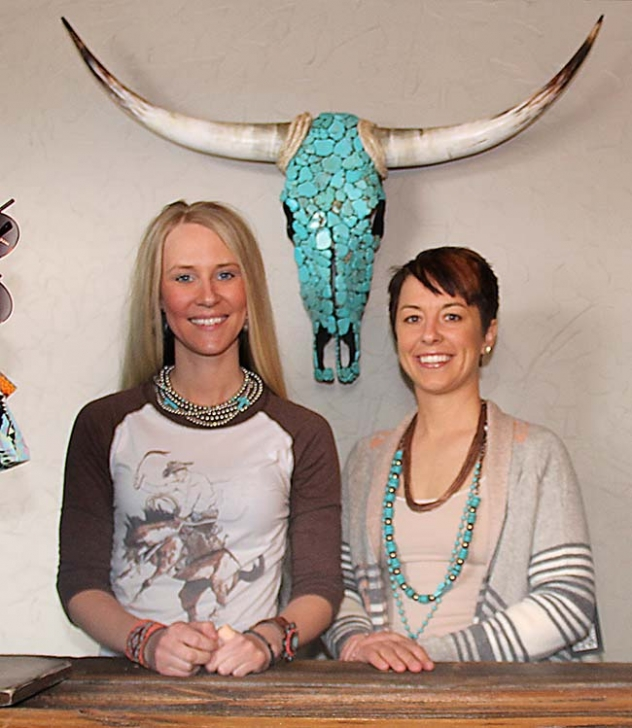 Brianna Tonjes and Elie Otte will open their new boutique, Gypsie Ranch Boutique, in Hay Springs on April 5, 2014.