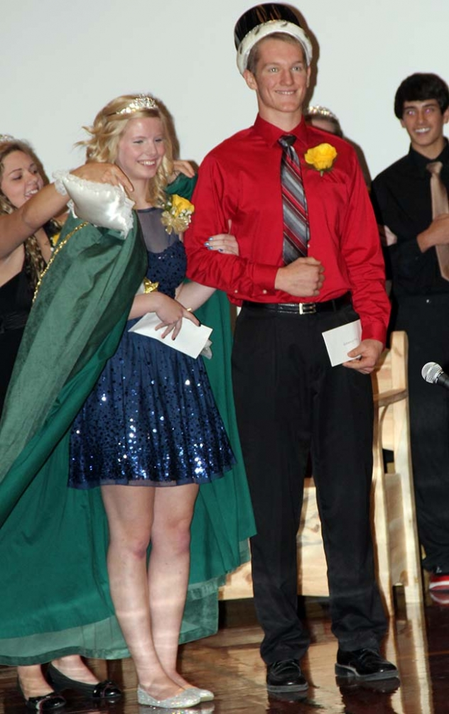Seth Nowak and Kate Roberts were crowned King and Queen at the 2014 Hay Springs High School Homecoming Coronation.
