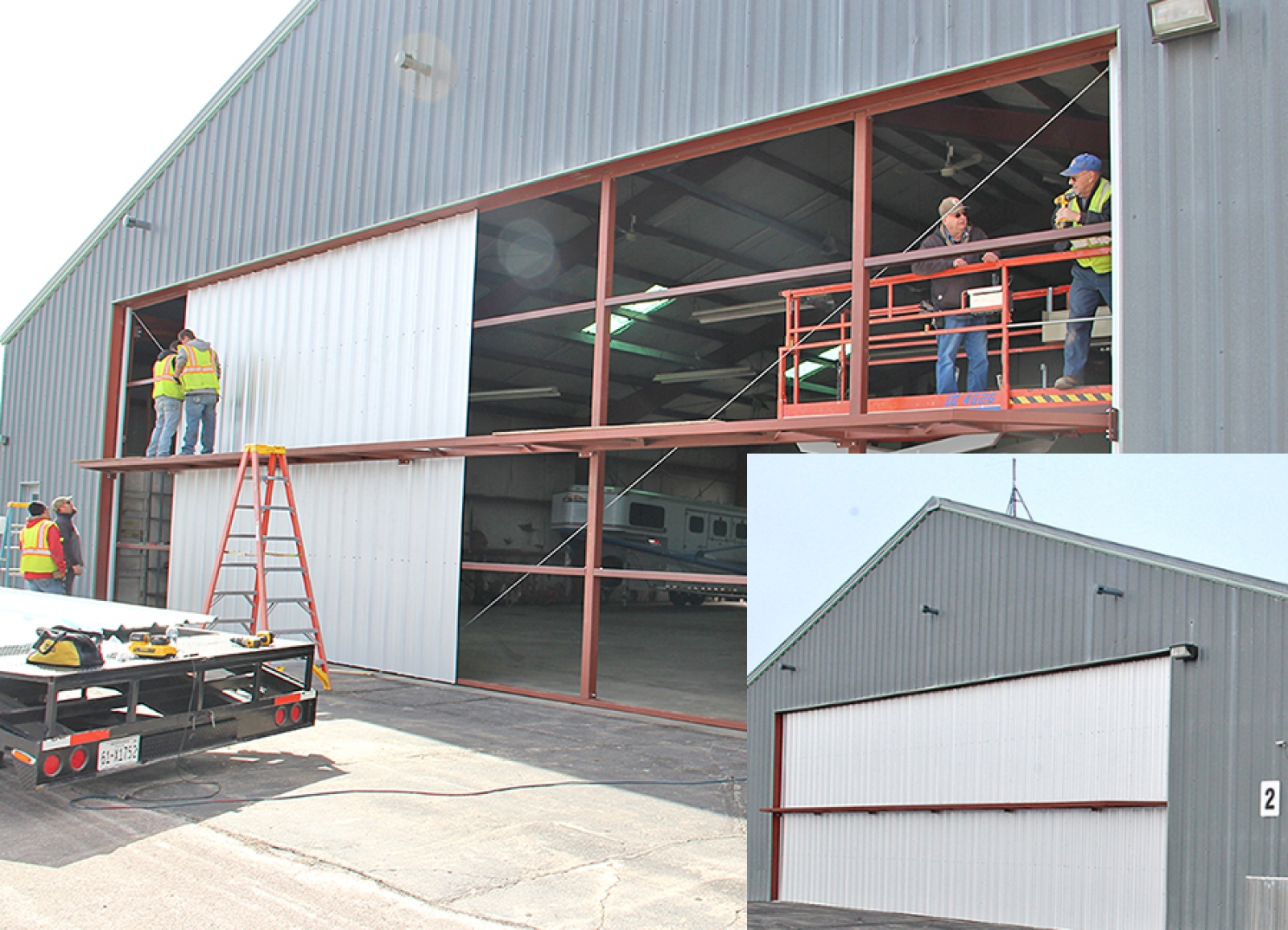 New door installed at Gordon airport hangar